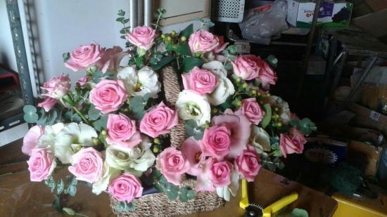 핑크장미 꽃바구니 bo..