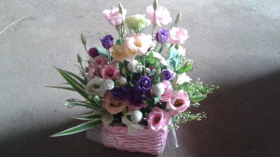 리시안셔스 꽃바구니 ..